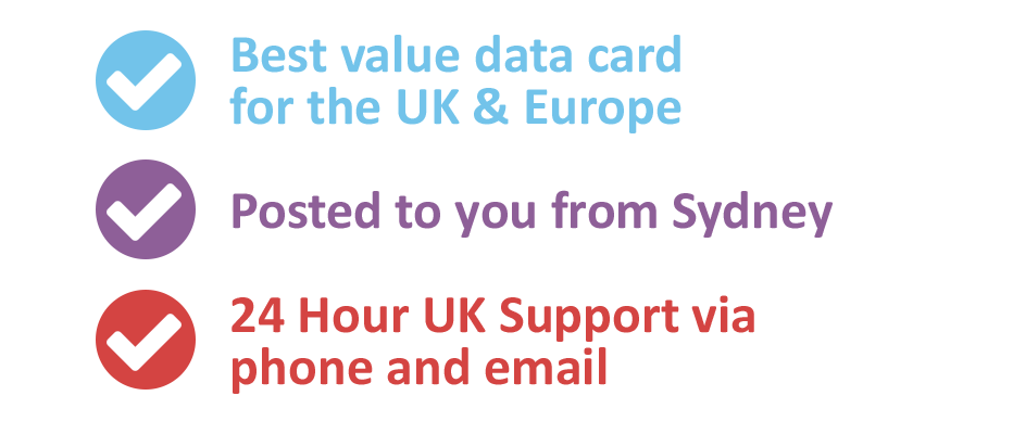 Best value data SIM Card for the UK & Europe
