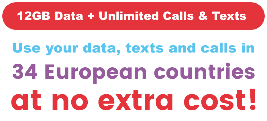 Data & texts in 34 countries at no extra cost