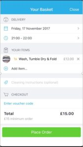 Laundrapp best mobile app when travelling to London UK