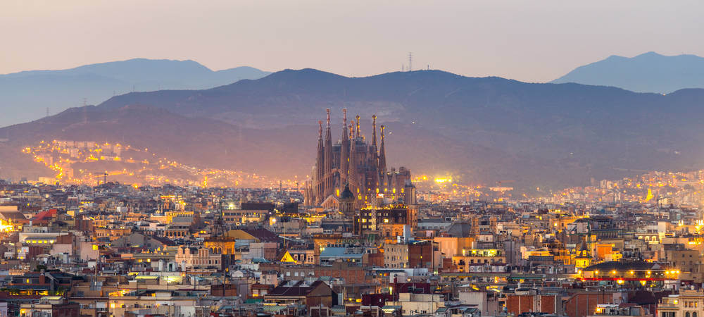 Visiting Spain - View of Barcelona